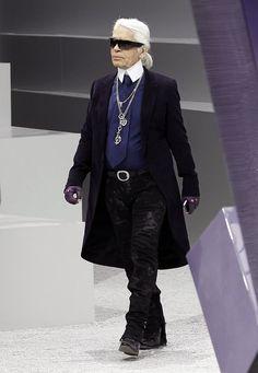 """Modezar Karl Lagerfeld: """"Stress? Das kenne ich nicht, ich kenne nur Strass."""""""