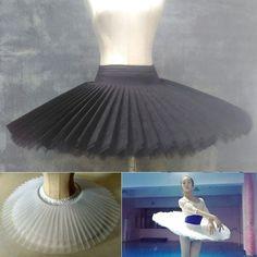 Professional Ballet Tutu 6 Layers Hard Organdy Platter Skirt Adult Ballet Costum | eBay