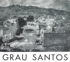 Exposición de pinturas de Grau Santos Casa de Cultura de Cuenca Septiembre 1967