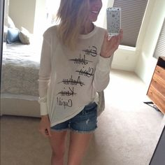 NWT WILDFOX looking for Love Tee- S I could live in this tee it's so soft. L❤️VE. Price firm. Wildfox Tops Tees - Long Sleeve
