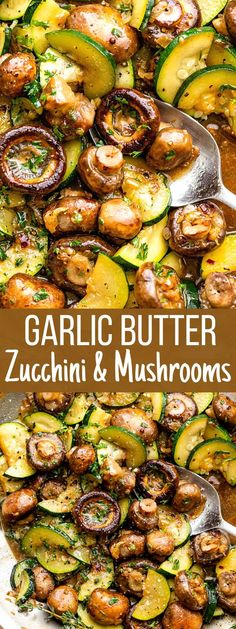Mushroom Side Dishes, Zucchini Side Dishes, Veggie Side Dishes, Healthy Side Dishes, Side Dish Recipes, Food Dishes, Recipe For Side Dishes, Vegetable Dishes, Good Side Dishes