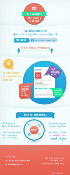 what makes a good email signature template infographic