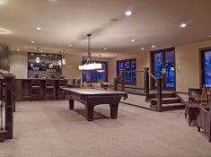 walk-up walk-out basement @ houzz.com Game Room Design, Pictures, Remodel, Decor and Ideas - page 15