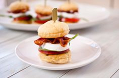 BLT Caprese Sliders With Puff Pastry Buns - Easy and Delish