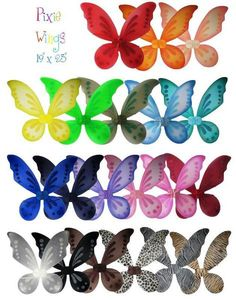 These 19' x 23' child to youth size costume pixie fairy wings are the perfect…