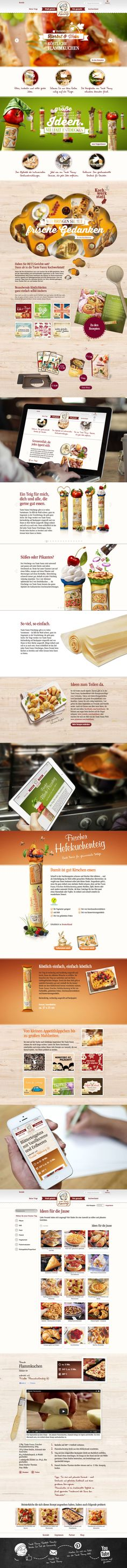 Cool Full Responsive Food Website with Recipes www.tantefanny.at #webdesign, #foodwebsite, responsive, #digitalwerk.at