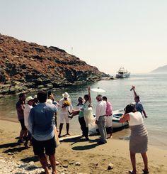 #Wedding #kythnos #blue #boat #greece
