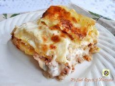 Lasagne bianche con prosciutto cotto e formaggio Blog Profumi Sapori & Fantasia