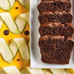Zucchini definitely adds moistness to this dessert loaf recipe. Just Desserts, Delicious Desserts, Dessert Recipes, Ricardo Recipe, Chocolate Zucchini Bread, Plant Based Whole Foods, Vegan Sweets, Sweet Bread, Clean Eating Snacks