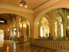 Romania Palace of Culture Iasi interior beautiful eastern europe palaces romanians 5 Eastern Europe, Romania, Taj Mahal, Culture, Architecture, Building, Interior, Palaces, Castles