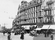 Horse drawn trams in Sheffield 1900