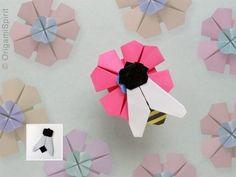 Abejas en origami que producen miel!