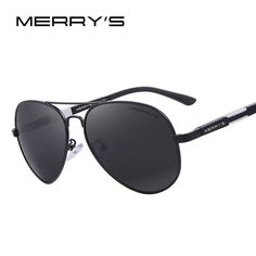 eb8f94f0cb6 MERRY S Men HD Polarized Sunglasses Aluminum Magnesium Driving Sun Glasses  Men s Classic Brand Sunglasses S