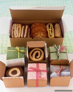 Packaging Cookies - pães e bolos para presente.