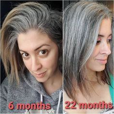 25 Women Who Quit Dying Their Hair and Look so Amazing You'll Want to Join Them | Thinking of going gray? These women are sharing their journey with growing in their gray and growing out their hair dye and showing us all how to go gray gracefully. They'll inspire you to ditch your hair dye and let your gray grow in too, I promise!