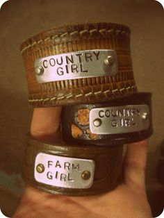 COUNTRY & FARM GIRL  Bracelets http://www.concealedcarrie.com/