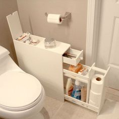 Looking to free up some room in your medicine cabinet without losing all your floor space? Look no further than this Space Saving Bathroom Floor Cabinet in White Wood Finish to serve your bathroom sto