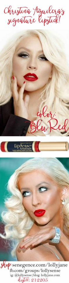 LipSense/SeneGence Distributor I love this stuff. If you'd like more info or would like to order you can look me up on FB 💋💄 Lip Sense, Christina Aguilera, Red Lipsense, Long Lasting Lip Color, Senegence Makeup, Kissable Lips, Beautiful Lips, Pink Lips, Red Lipsticks
