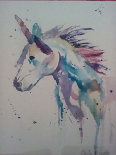 Made an awesome watercolor unicorn!!! Love it so much