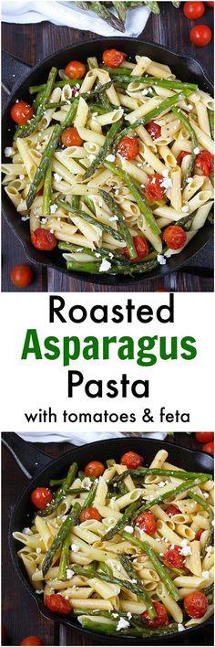 Roasted Asparagus Pasta [Gluten-Free / Meatless]
