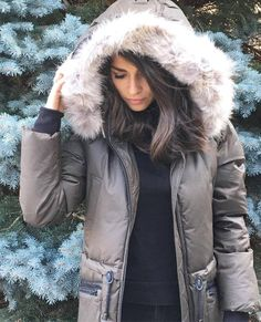 Stay warm and cozy in this Soia & Kyo Down Parka