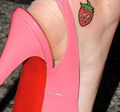 Katy Perry Tattoo strawberry