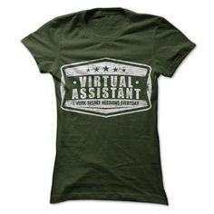 Virtual Assistants Work Secret Missions T Shirts, Hoodie Sweatshirts