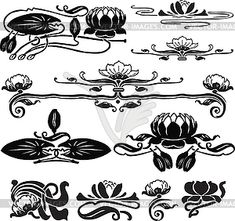 logo research: waterlily jugendstil