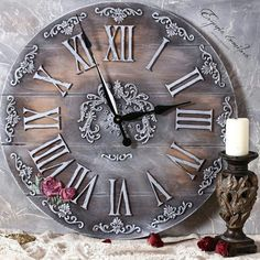 1 million+ Stunning Free Images to Use Anywhere Clock Art, Diy Clock, Clock Decor, Decoupage Art, Decoupage Vintage, Clock Face Printable, Wood Crafts, Diy And Crafts, Pewter Art