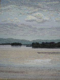 Christina Kluge. Landscape Tapestry Weaving.