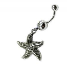 Piercing de ombligo con estrella de mar