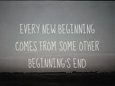 It's closing time.   I'm ready for a new beginning.