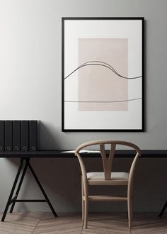 Simple but sophisticated desk set up Diy Wall Art, Wall Art Decor, Modern Interior Design, Interior And Exterior, Pretty Things, Home Office Decor, Home Decor, Minimalist Art, Abstract Wall Art