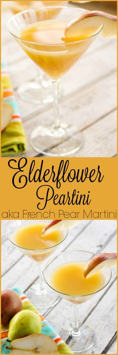 Elderflower Peartini