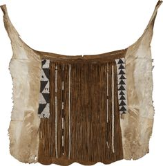 Yei Animal Hide Back-Apron, Botswana Tribal Clothing, Tribal Outfit, North Western, Out Of Africa, Leather Pattern, Tribal Fashion, Conceptual Art, African Art, Apron