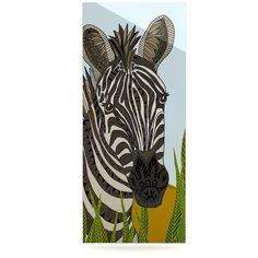 "Art Love Passion ""Zebra"" Black White Luxe Rectangle Panel"