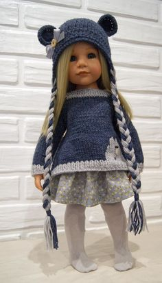 Knitting Dolls Clothes, Baby Doll Clothes, Crochet Doll Clothes, Knitted Dolls, Crochet Dolls, Baby Dolls, Gotz Dolls, Journey Girls, American Doll Clothes