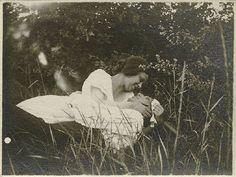 Andre Kertesz and Elizabeth in Field. 1921