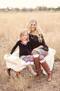 Mommy and Me Our Favorite Leggings - Ryleigh Rue Clothing by Modern Vintage Boutique