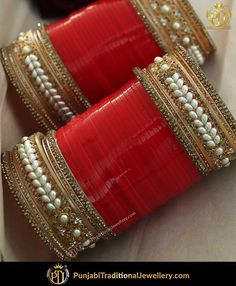 Top 10 Jewellery Pieces Every Bride Wants Bridal Bangles, Bridal Jewelry, Bridal Accessories, Jewelry Accessories, Chuda Bangles, Wedding Chura, Desi Wedding, Punjabi Wedding, Wedding Ring