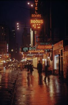 Old Color Photos of New York City at Night
