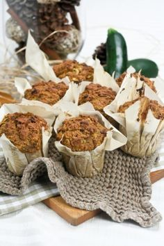 Pumpkin, Zucchini and Quinoa Muffins - used whole wheat flour, smaller muffins in airbake muffin pan, skipped 425 temp, baked 27 min. Added chocolate chips, no nuts or raisins but they would have been good.  Second time - used half Coach's oats, half whole wheat flour. Good with raisins