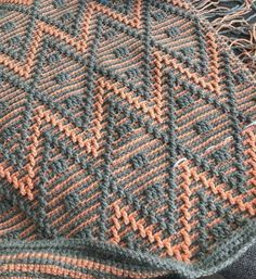Crochet Ripple, Crochet Afgans, Tunisian Crochet, Crochet Motif, Knit Crochet, Crochet Blankets, Tapestry Crochet Patterns, Crochet Stitches Patterns, Knitting Stitches
