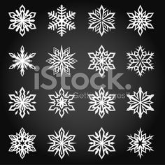 Beautiful Winter Snowflakes royalty free vector interface icon set royalty-free stock vector art
