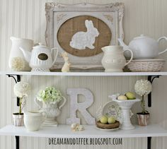 Dream and Differ: Pottery Barn Inspired Easter Art and a Spring Vignette