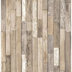 Brewster 56.4 sq. ft. Barn Board Brown Thin Plank Wallpaper-FD23274 - The Home Depot