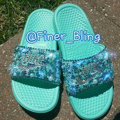 Bling Nike Flip Flops