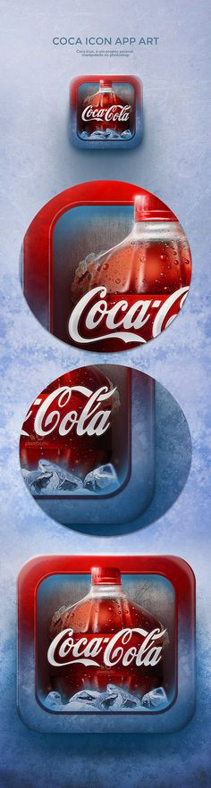 Coca Icon app art by Leandro Jorge, via Behance - I don't know why, but I really love this. Maybe it's my thing for coke...