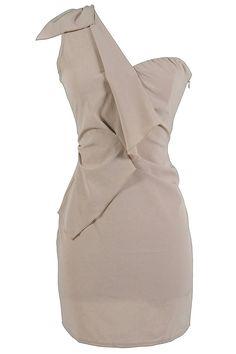 chic one shoulder  Nude Dress #2dayslook  #jamesfaith712 #NudeDress  www.2dayslook.com