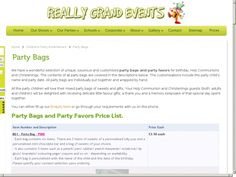 Really Grand Events - Party Bags are a great hit and beautifully made up bu Cecilia of BBBonBon in Dublin Personalised Party Bags, First Communion Favors, School Parties, Party Entertainment, Childrens Party, Goodie Bags, Dublin, Party Favors, Events